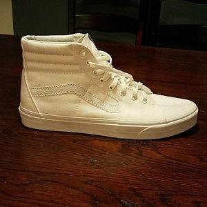 All white vans high tops sz 12